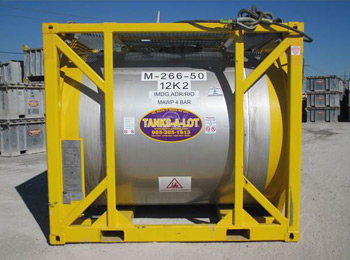 50 BBL 316 SS HORIZONTAL CHEMICAL OFFSHORE TANK - Tanks-A-Lot, Deepwater Container Specialists