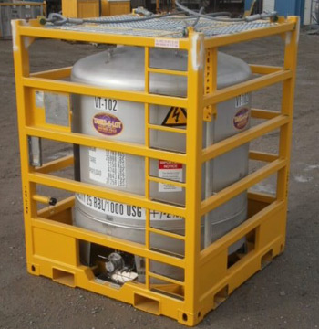 25BBL/1000 Gal. 316 L S.S. Vertical Chemical Offshore Tank - Tanks-A-Lot, Deepwater Container Specialists