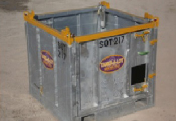 5'-6' Wide Open Top Freight Box - Tanks-A-Lot, Deepwater Container Specialists