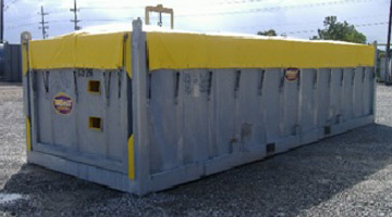 8' Wide Open Top Freight Box - Tanks-A-Lot, Deepwater Container Specialists